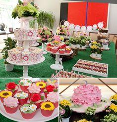 festa das flores, festa infantil menina, festa primavera, spring party, girls party, flowers