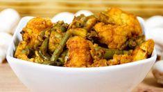 Schnelles, leckeres und einfaches Low Carb Gericht aus dem Backofen mit Blumenkohl, grünen Bohnen, Champignons und Tomate.