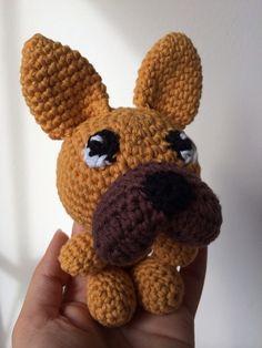 Crochet dog frenchie little milo