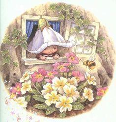victoria plum y las flores de su jardín...,