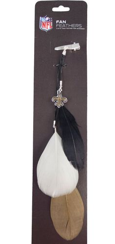 New Orleans Saints Team Color Feather Hair Clip