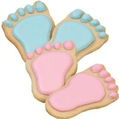 Baby Steps Cookies-using the wilton plastic foot cutter