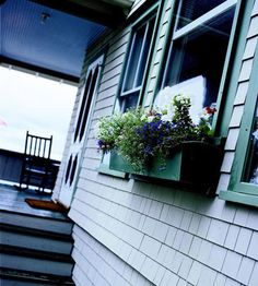 Craftsman Cottage details like window boxes in full bloom are a necessity! Love!
