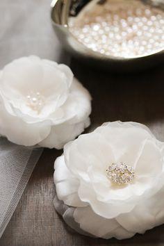BELLA | bridal hair flowers by @Emily Schoenfeld Martin Handmade