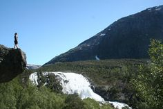 Four beautiful waterfalls in Husedalen valley, Hardangervidda National Park, Norway. Photo by Magnus Hisdal