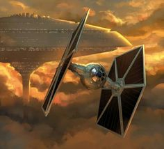 Retro-Futurism, Star Wars, Sci-Fi, Space Fiction,Tie Fighter
