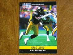 Greg Lloyd Pittsburgh Steelers LB Card No. 272 (FB272) 1990 NFL Pro Set Football Card - for sale at Wenzel Thrifty Nickel ecrater store