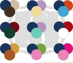 Navy color combinations I like the navy green and instead of pink use white !!!