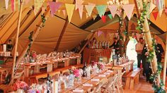 Wedding Tipi specialises in providing giant Nordic tipi's and Bedouin stretch tents for weddings, corporate events and parties.