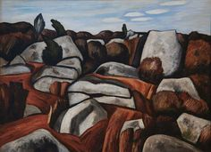 MARSDEN HARTLEY Rock Doxology 1931 Cape Ann Museum Gloucester, MA.