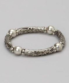 This Silver Filigree Bracelet is perfect! #zulilyfinds #silverbracelet
