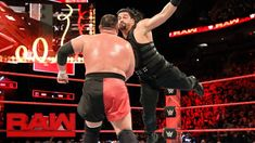 Roman Reigns vs. Samoa Joe - Intercontinental Championship Match: Raw, Jan. 1, 2018 - YouTube