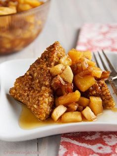Pumpkin Oatmeal Cakes with Apple Compote Life Well Said