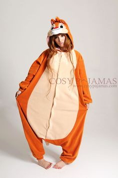 Animal Costumes Dale Adult Onesie Kigurumi Pajamas...oh my gosh! Can I have this?