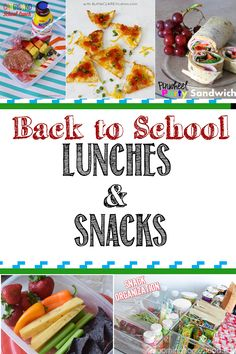Back to School Lunches & Snack Ideas to help you get out of a rut on what to send in school lunches!