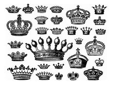 Image detail for -keywords: vector crowns, old vectors, cliparts, clip art, vector crown