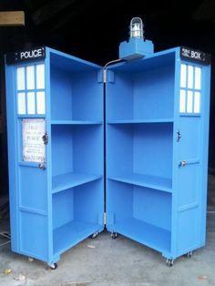 Homemade Doctor Who Tardis Bookcase | eBay