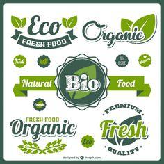 Bio fresh food labels