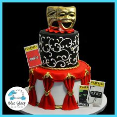 This is one of my favorites on Blue Sheep Bake Shop: Broadway Theater Cake