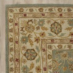 Found it at Joss & Main - Alda Blue/Beige Oriental Wool Hand-Tufted Area Rug