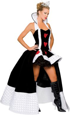 Alice and Wonderland Queen of Hearts Costume make an impression this halloween http://adult-halloween-costume.fastblogger.uk/