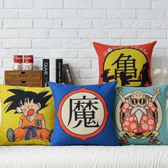Free Shipping Linen Throw Pillow Hot Sale New Fashion Wedding Decor 45cm Japanese anime Dragon Ball Home Office Sofa Car Cushion-in Cushion from Home & Garden on Aliexpress.com | Alibaba Group
