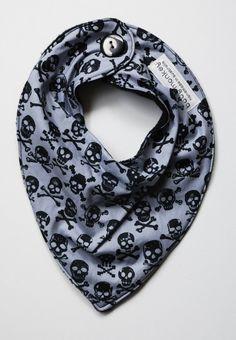 Skull bandana baby bib