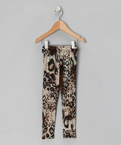 Take a look at this Brown Leopard Leggings - Toddler & Girls by Zoe & Apollo on #zulily today!