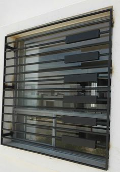 Pin By Nofall Taresh On Steel Stairs Ventanas Modernas Window Grill Design Modern, Grill Door Design, Facade Design, Fence Design, Window Design, House Design, Modern Windows, Modern Door, Grill Gate