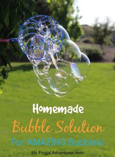 Homemade Bubble Solu