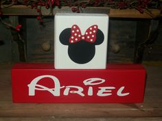 Minnie Mouse Personalized Name Blocks for Nursery Or Kids' Rooms  BusyMamasPlace on Facebook