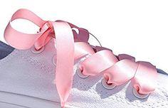 Amazon.com: Pink Flat Satin Ribbon Shoelaces, Shoe Laces - Ideal for Converse, Nike, VANS, Addidas, Reebok, Puma Trainers: Shoes