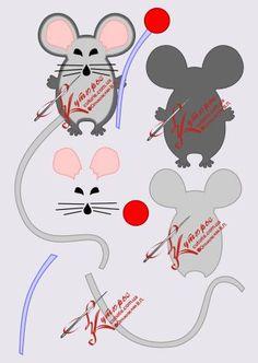готовая бесплатная выкройка мышки Дольче Габбана рис 2