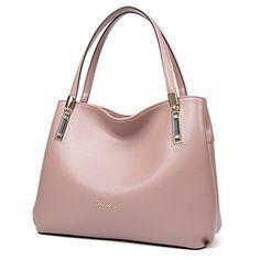 Womens Leather Handbags Pink Tote Shoulder Bags Designer Purses Style Fashion  #WomensLeatherHandbagsPinkTote