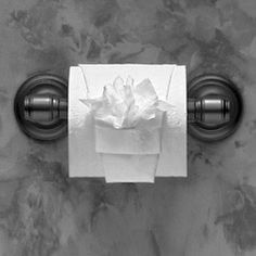 """FLOWER POT~ TOILET PAPER ORIGAMI  ♦ Instructions in """"Toilet Paper Origami: Delight Your Guests with Fancy Folds and Simple Surface Embellishments"""" by Linda Wright ♦ http://www.amazon.com/dp/0980092310/"""