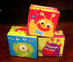 My sons baby shower. Monster gift boxes for the prizes. Monsters Inc Baby Shower, Gift Boxes, Toy Chest, Sons, Gifts, Home Decor, Presents, Decoration Home, Wine Gift Sets