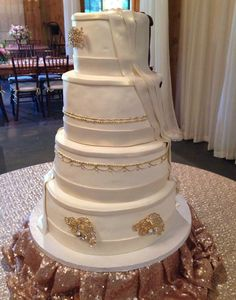 gold wedding cake, signature cakes by vicki, ivory, Signature Cakes by Vicki, #nashvillewedding, #cake
