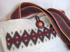 Upcycled Sweater Purse | Upcycled Sweater Bag by FiberLingo on Etsy