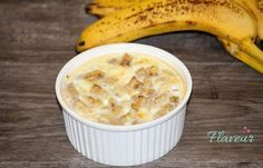 BUDINCA DE MAR SI BANANA Healthy Desserts For Kids, Healthy Recipes, My Fitness Pal, Yummy Food, Tasty, Couscous, Baby Food Recipes, Macaroni And Cheese, Oatmeal