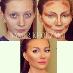 It's all choosing the right correction  She is a model thats why she is using too much makeup .