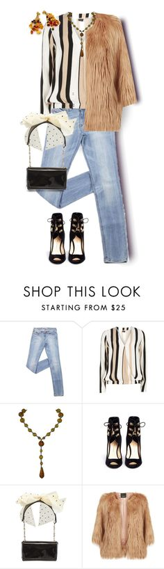"""Amber Stripes"" by celeste-menezes ❤ liked on Polyvore featuring Dorothy Perkins, Paul Andrew, Christian Louboutin, Pinko and Calgaro"
