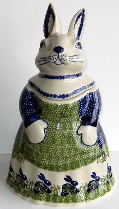 Polish Pottery Mama Bunny Rabbit Cookie Jar Canister P324 Spring Bunny Rabbit by Manufaktura, http://www.amazon.com/dp/B005JL53TS/ref=cm_sw_r_pi_dp_tYjbrb196HMDT