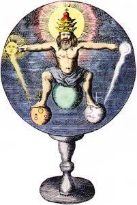Frontispiece from Johann de Monte-Snyders Metamorphosis planetarum, Amsterdam 1663.