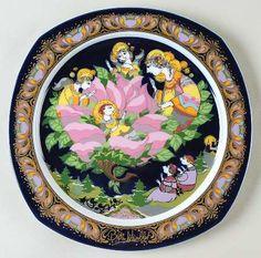 """""""Lo How a Rose E'er Blooming"""" Bjørn Wiinblad, 1994 Rosenthal Christmas Carol Plate (1983-1994)"""