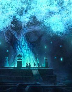 Mundos Magicos - and for some reason reminds me of Final Fantasy game? Fantasy Places, Fantasy World, Pretty Drawings, Fantasy Setting, Environment Design, Fantasy Inspiration, Fantasy Landscape, Fantasy Art Landscapes, Fantasy Artwork