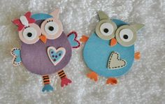 by Katie Ridden..... punch art creations of Hootabelle and Hoot the Owl..... Hoot has his own program on ABC in Australia (Giggle and Hoot).