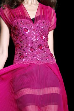 beaded bodice, gathered chiffon..., Christian Dior Spring 2010 RTW Collection