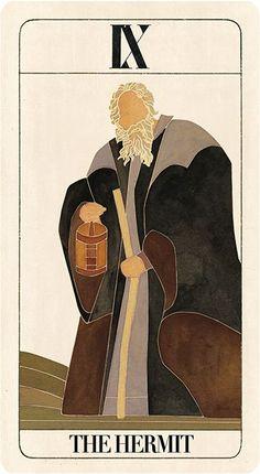 BRuT Tarot by Uusi, IX The Hermit Card.
