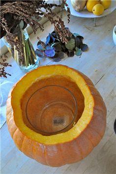 Carved Pumpkin Vase