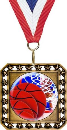 "This versatile 3.5"" medal can be used as either a diamond or square shaped medal. Available in Gold, Silver or Bronze. Shown with a 2"" round insert.  SDTA offers free engraving on all of our awards and trophies!"